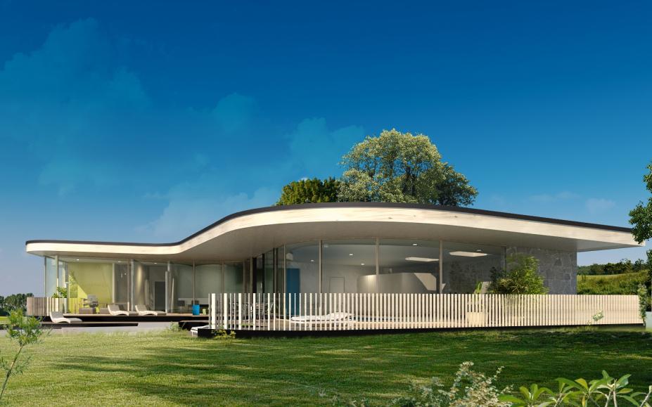 architektur, einfamilienhaeuser, habitat, mitterdorf,